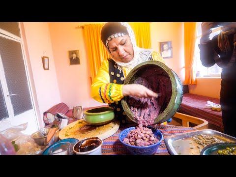 Unique Village Food in Masuleh, Iran! 🇮🇷I ate 48 YEARS-OLD GARLIC!!