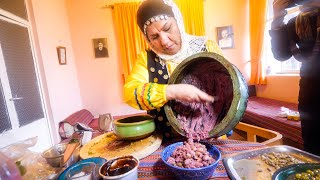 Unique Village Food in Masuleh, Iran! 🇮🇷I ate 48 YEARS-OLD GARLIC!!