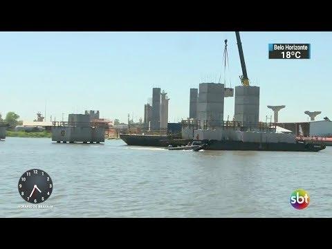 Obras da nova ponte do Guaíba devem ficar prontas no fim de 2018 | SBT Notícias (25/11/17)