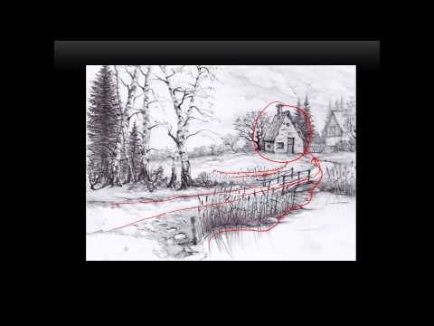 Unit 2  ( video 1 ) Landscape drawing.  Composition II.