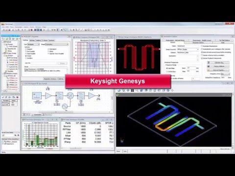Keysight W2200 Genesys RF/Microwave Synthesis and Simulation