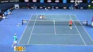 مباراة تنس مجانين ديكوفيش نادال ضحك هههههه flv