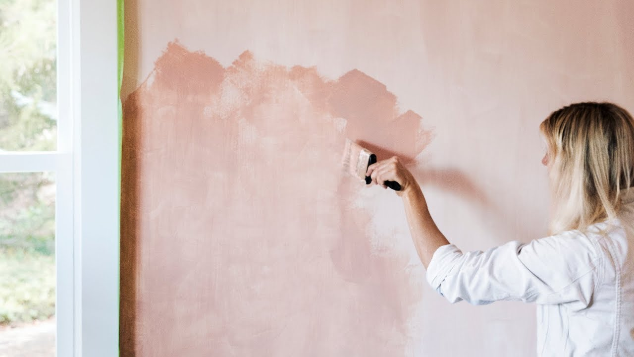 How To Paint A Wall With Limewash Sunset