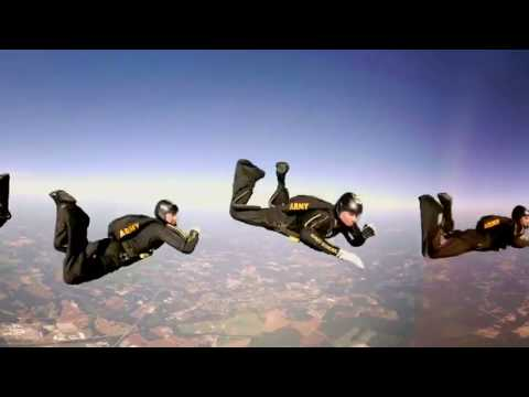 VR skydive with the US Army Golden Knights parachute team