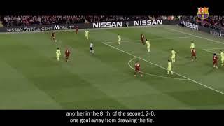 فيديو.. كيف استقبلت شاكيرا صدمة ريمونتادا ليفربول في برشلونة؟