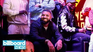 Drake Announces Two New Songs While Celebrating Toronto Raptors Win | Billboard News