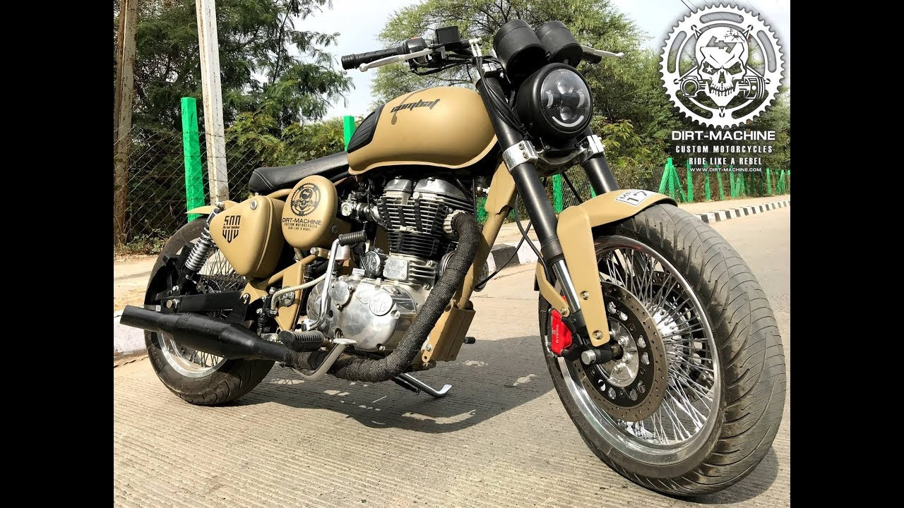 Royal Enfield Desert Storm Modified Into Combat