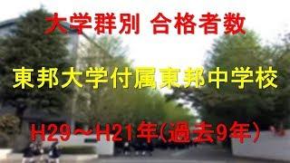 東邦大学付属東邦中学校 大学合格者数 H29~H21年【グラフでわかる】 thumbnail