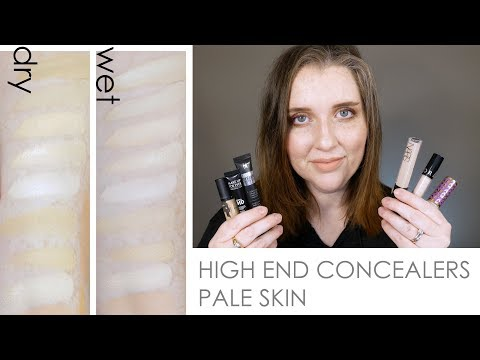 High End Concealers Swatches | Very Fair / Pale Skin
