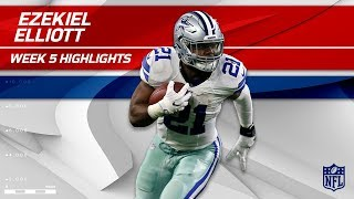 Ezekiel Elliott's Big Day w/ 29 Carries & 116 Yards! | Packers vs. Cowboys | Wk 5 Player Highlights