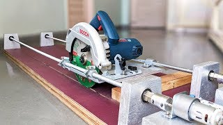 How to Make a Motorized Circular Saw Guide at home