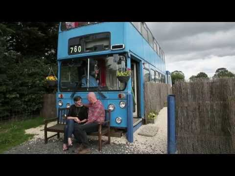 Double-decker bus converted into luxury holiday home