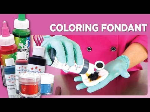 Coloring Fondant - YouTube