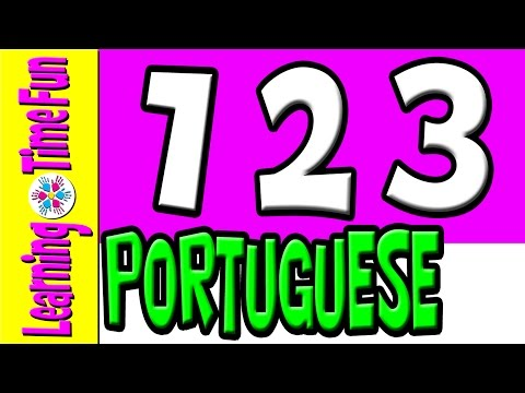 Count 1-10 for Kids | PORTUGUESE numbers | Portuguese Language | Learn Portuguese | Brazil Language