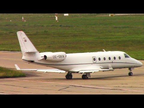Jet Aviation SZ Gulfsream G150 (OE-GKA) Touch And Go At Friedrichshafen Airport!