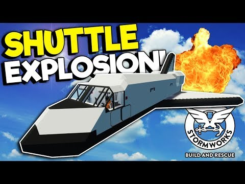 IDIOTS CAUSE SPACE SHUTTLE DISASTER! - Stormworks Multiplayer Gameplay - Plane Crash Survival
