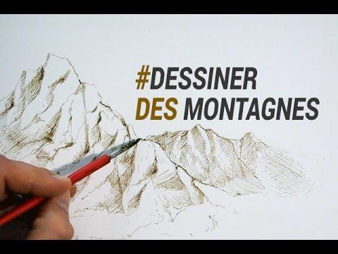 Dessiner des montagnes l 39 encre et la plume youtube - Dessin de montagne ...