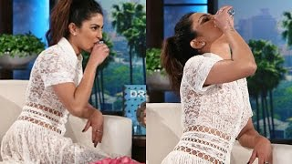 Priyanka Chopra Drinks Tequila On Ellen DeGeneres Show
