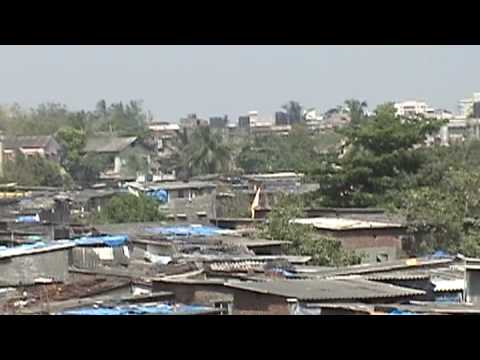 Slum housing in Mumbai.