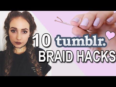 10 Tumblr Braid Hairstyle HACKS ♡