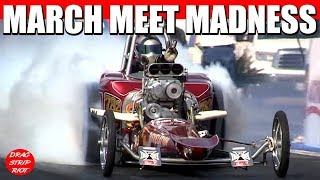 2012 Bakersfield March Meet - Four Days of Madness Nitro Nostalgia Drag Racing FED Dragster Mishap