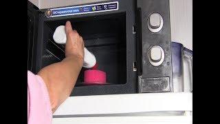 видео Как почистить микроволновку в домашних условиях