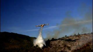 Incendie à Quillan16 juillet 2017. Une journée de travail pour les  pompiers à Quillan.