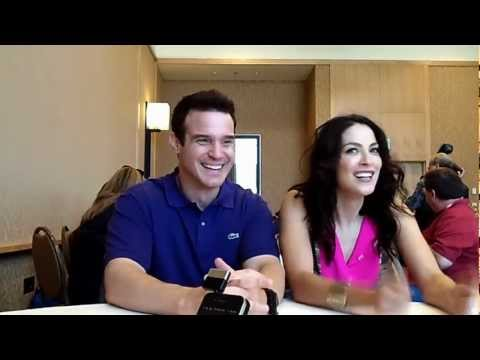 with Warehouse 13's Eddie McClintock & Joanne Kelly at ComicCon 2012