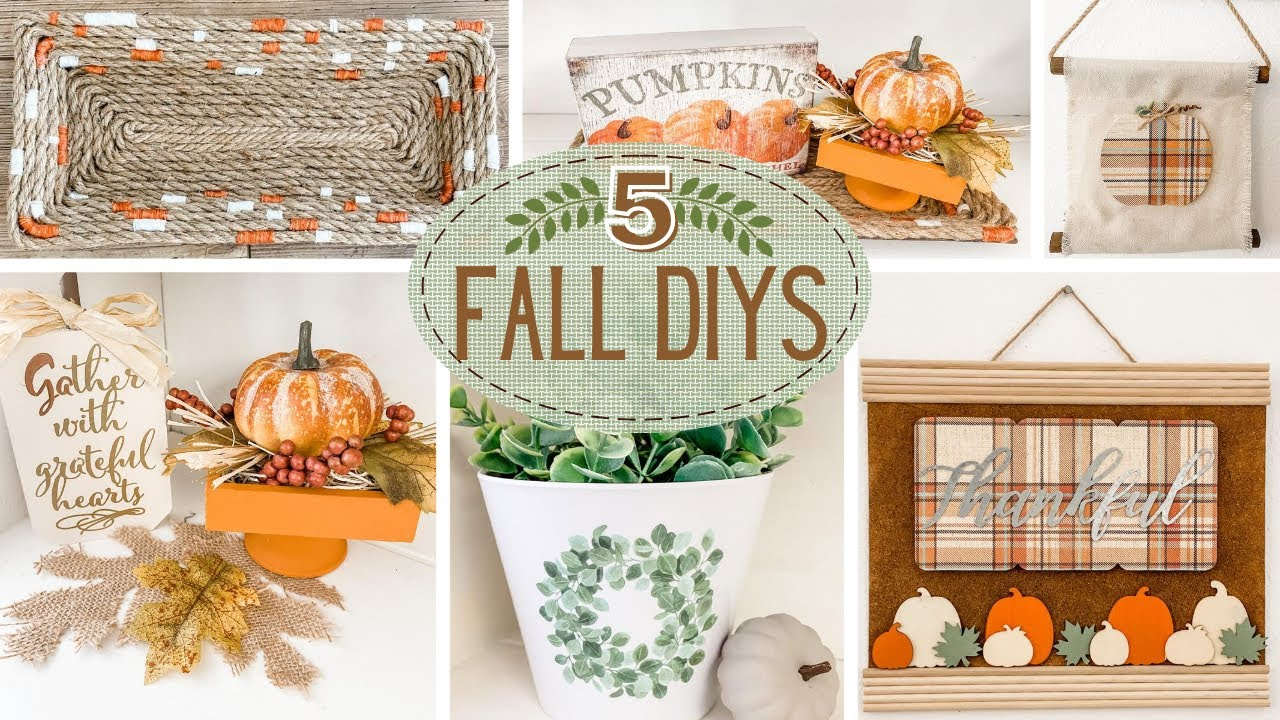 🍁 Festive FALL Dollar Tree DIYS 🍁