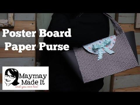 Poster Board Paper Purse!!!