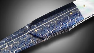 AMAZING DAMASCUS STEEL on this Knife Made by Attilio Morotti