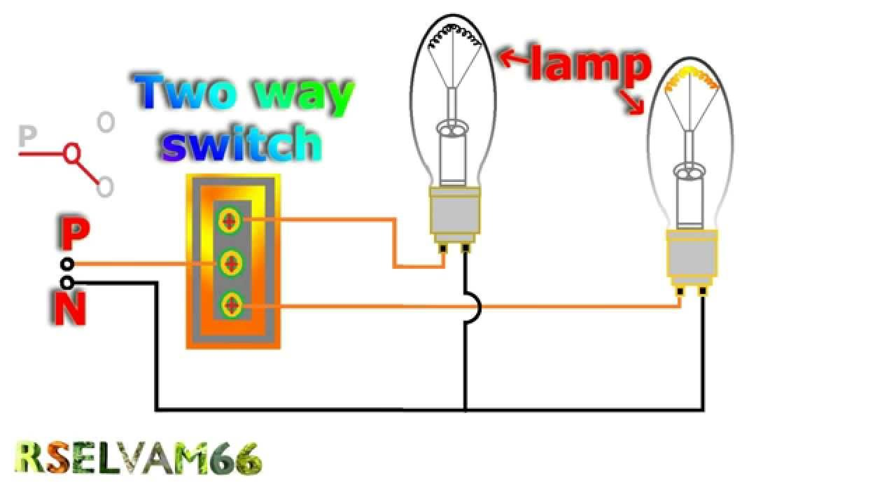 Two Way Switch Connection Diagram 2003 Chevy Suburban Wiring Diagrams How To Work Electrical - Youtube