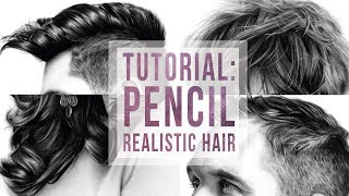 HOW I DRAW REALISTIC HAIR | Tutorial (with voice-over!) ✨