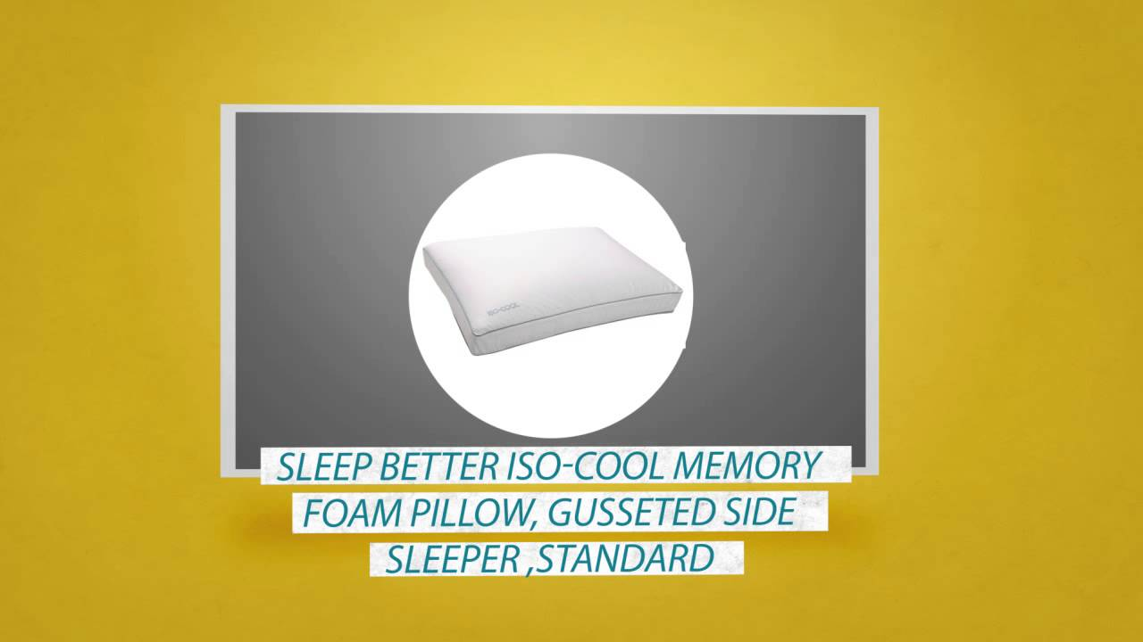 SLEEP BETTER ISOCOOL MEMORY FOAM PILLOW REVIEWSYouTube