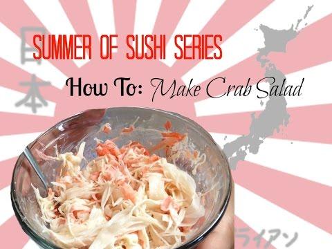 How to make sushi crab salad