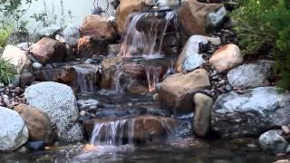 Koi ponds waterfalls  streams examples of