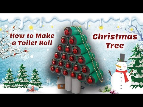 How to Make a Toilet Roll Christmas Tree