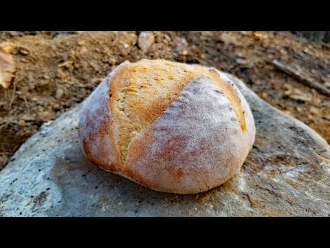 Survival Skills: Cooking On Rocks & Baking Bread In A Primitive Oven