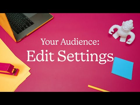 How to Edit Mailchimp Audience Name & Campaign Default Settings (October 2020)