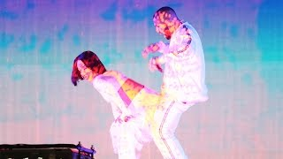 rihanna performs consideration twerks on drake during work brits performance