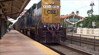 CSX TRAINS in South Florida