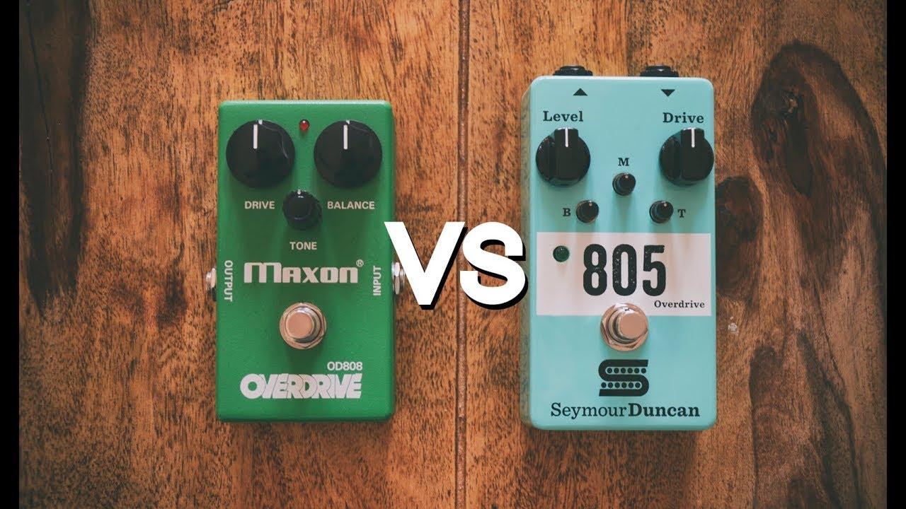 Maxon OD808 vs Seymour Duncan 805 Overdrive   Quick Metal Tone Comparison