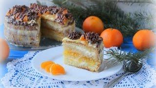 Торты рецепты домашние простые с фото. Мандариновый торт