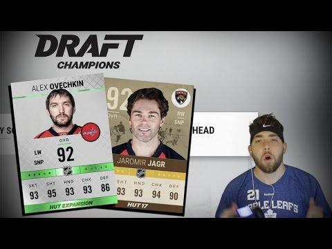 INSANE DRAFT! LETS RUN THE TABLE! NHL 17 DRAFT CHAMPIONS!