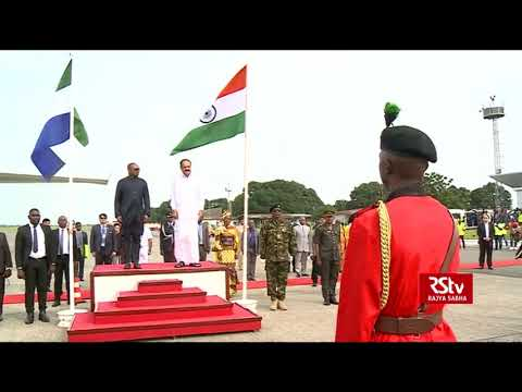 Vice President lands in Sierra Leone, receives warm welcome