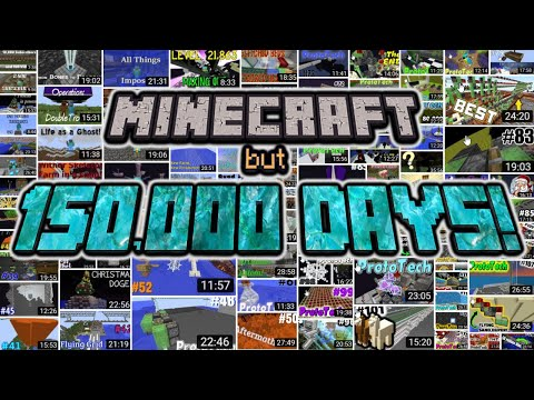 Minecraft World But 150 000 Days Old World Record Prototech Smp 123