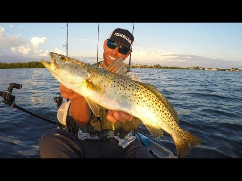 Kayak Fishing: Speckled Trout, Grouper & Spanish Mackerel | Mystery Tackle Box