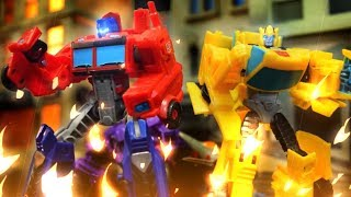 Transformers Stop Motion - Bumble Bee and friends