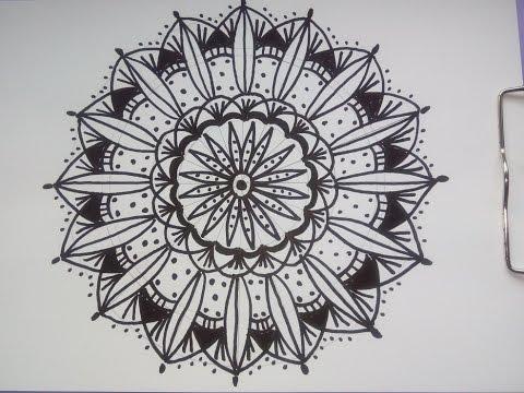 Video Tutorial Intuitives Mandala Zeichnen Mit Filzstift Oder