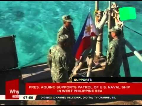 Pres. Aquino supports patrol of US Naval Ship in West Philippine Sea